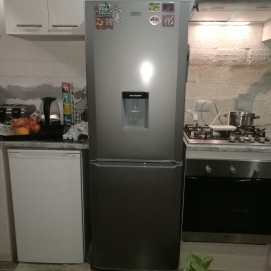 Almost at completion: New refrigerator installed